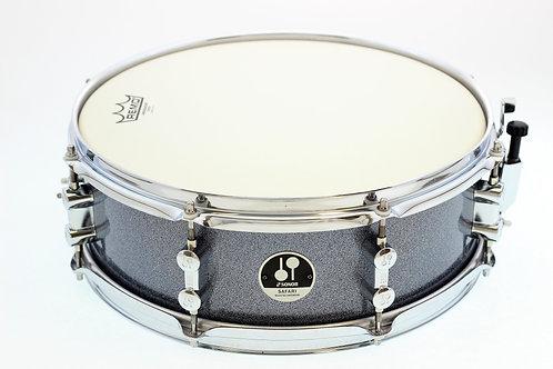 """Sonor Safari 14"""" x 5"""" Grey Safari Sparkle Snare Drum"""
