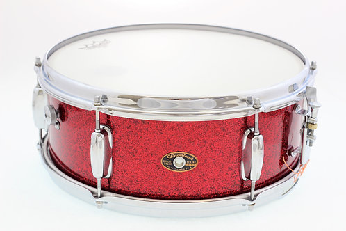 """Vintage 1960's Slingerland Red Sparkle 14"""" x 5.5"""" Snare Drum"""