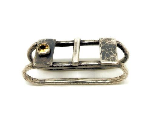 Two Finger Citrine Ring