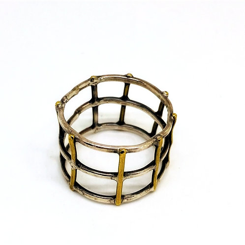 Brass and Sterling Latter Ring