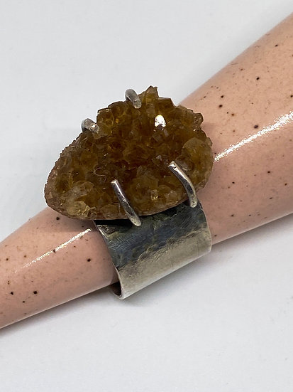 Crystal Citrine Ring