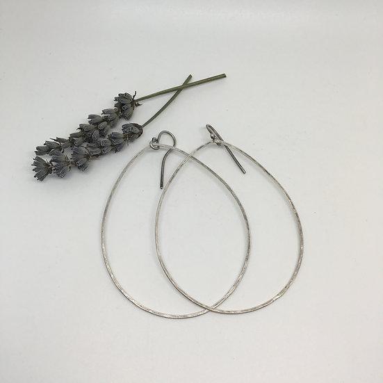 Dangle Handhammered Earrings, Sterling Silver Earrings