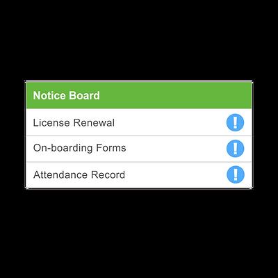 Notice Board of iAdmin