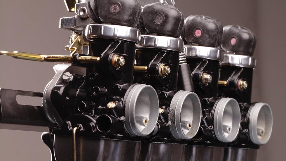 1969 Honda CB750- Blacked out Carburetors