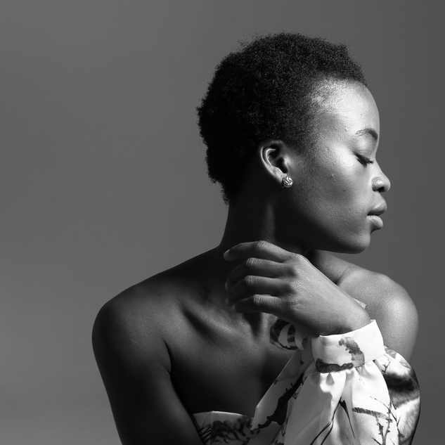 Young black women posing image