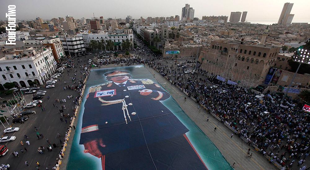 Kaddafi dev afişi