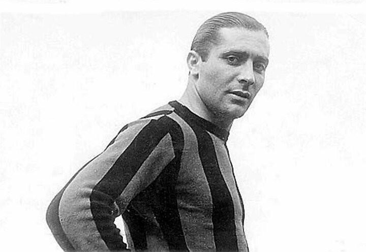 İtalyan futbolucu Giuseppe Meazza'nın fotoğrafı