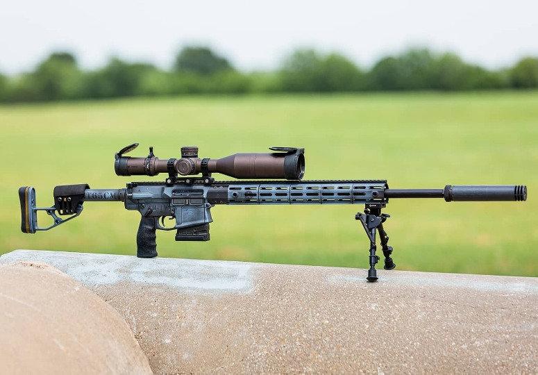 AR10, gas gun, blue cerakote, precision ar, competition ar, ergo, jp, vortex