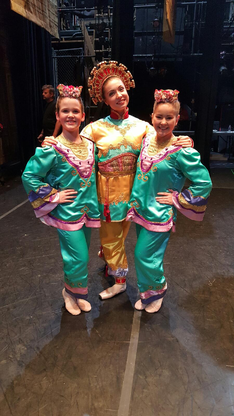 Gracie and Madison as Chinese divertissements