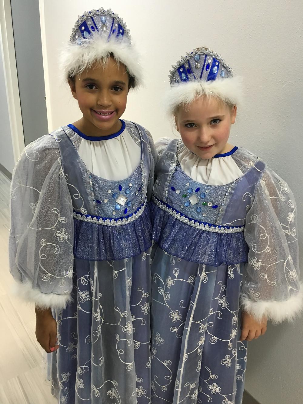 Jasmyne and Carrington as Snow Maidens