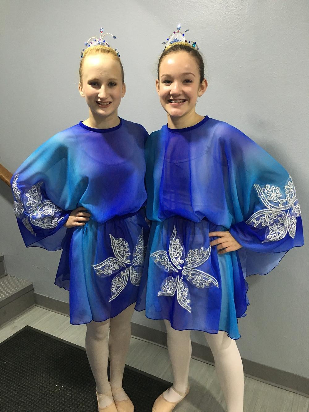 Trinity and Karlee as Snow Sprites