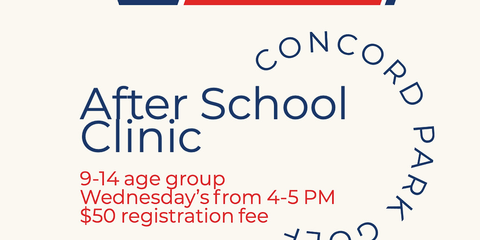 September After School Clinic 9-14 Age Group