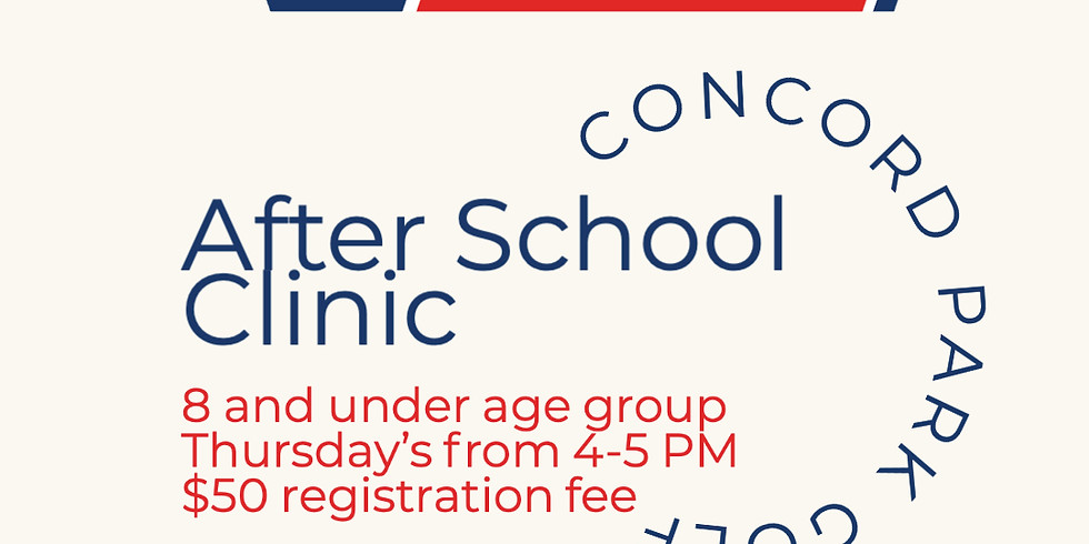 October After School Clinic 8 & Under Age Group