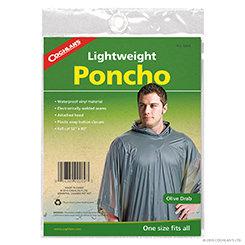 Coghlan's Lightweight Poncho - Olive Drab (Case 12)