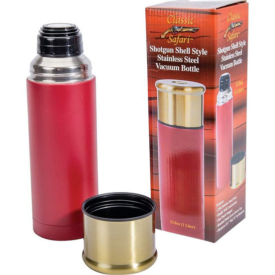 Shotgun Shell 1L Stainless Steel Vacuum Bottle (Case 6)