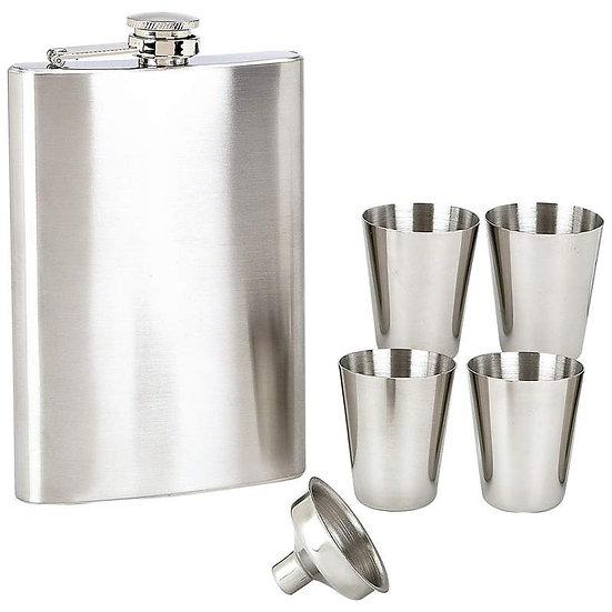 Maxam® 6pc Stainless Steel Flask Set (Case 6)
