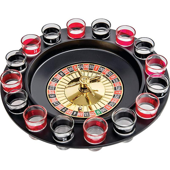 Club Fun™ 16-Shot Roulette Drinking Game Set (Case 6)