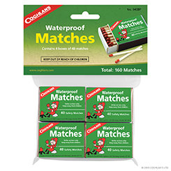 Coghlan's Waterproof Matches - 4 pack (Case 12)