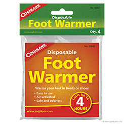 Coghlan's Disposable Foot Warmers - Bulk 2 pack x 25