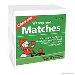 Coghlan's Waterproof Matches - 10pack (Case 12)