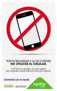 Prohibido uso celular