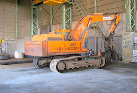 日立製解体機