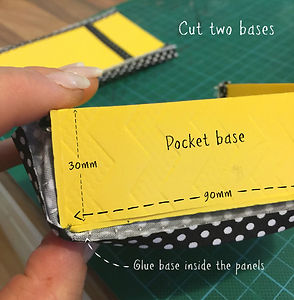 Yellow Caddy 19 - Side pockets base inse