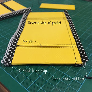 Yellow Caddy 18 - Side pocket reverse.jp