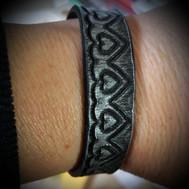 Leather-look bracelet