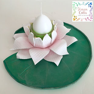 Bubbalux Tutorial: Waterlily Candle Holder
