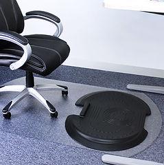 Standing Mat and Chair Mat on Carpet