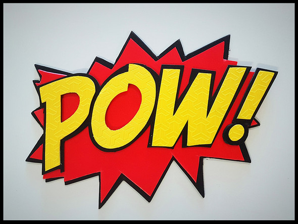 POW! Bubbalux Superhero Sign