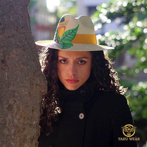 Green leaves Hat