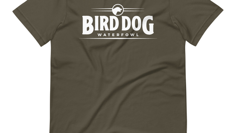 Army Green Dog Logo Tee