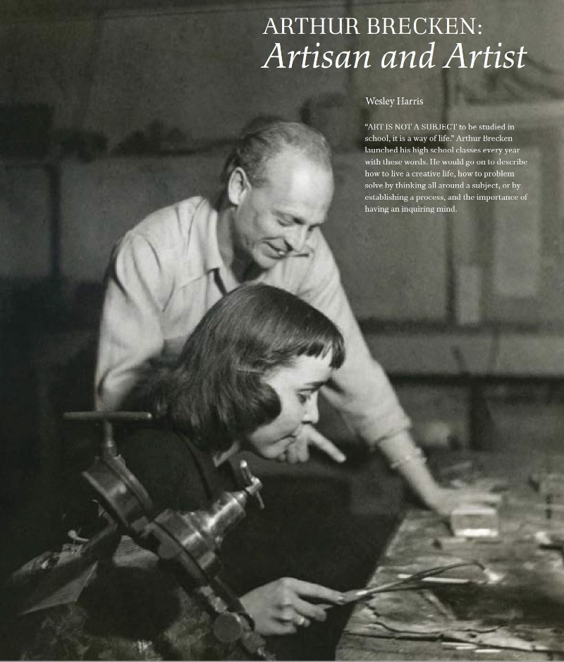 Arthur Brecken with one of his students