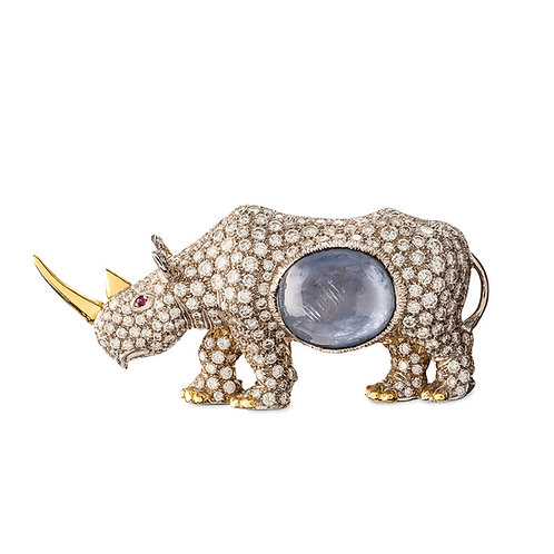 """ Rhino "" brooch"