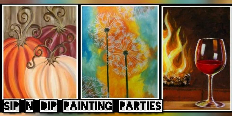 Sip N Dip Paint Night Trivia