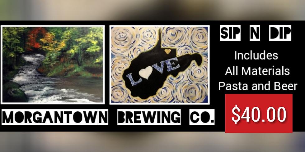 Sip N Dip at Morgantown Brewing Co.