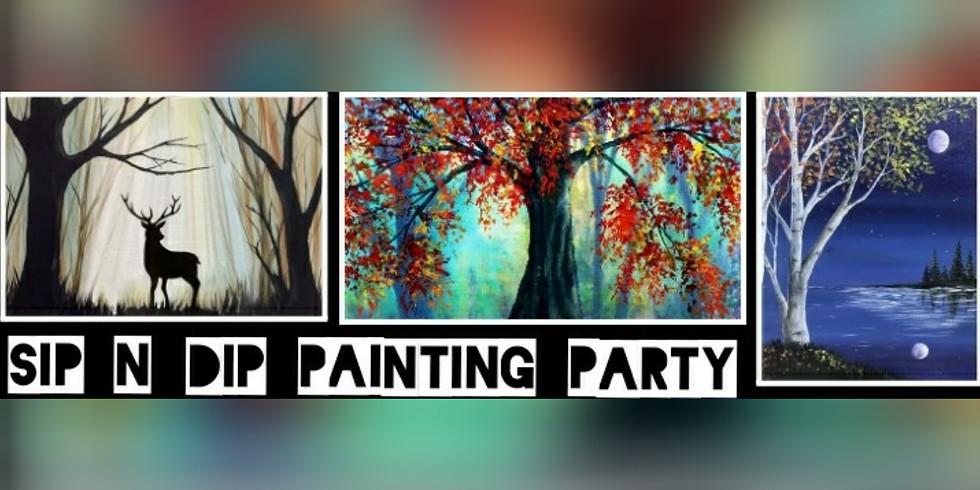 Sip N Dip Painting Party Fundraiser for Short Gap VFD