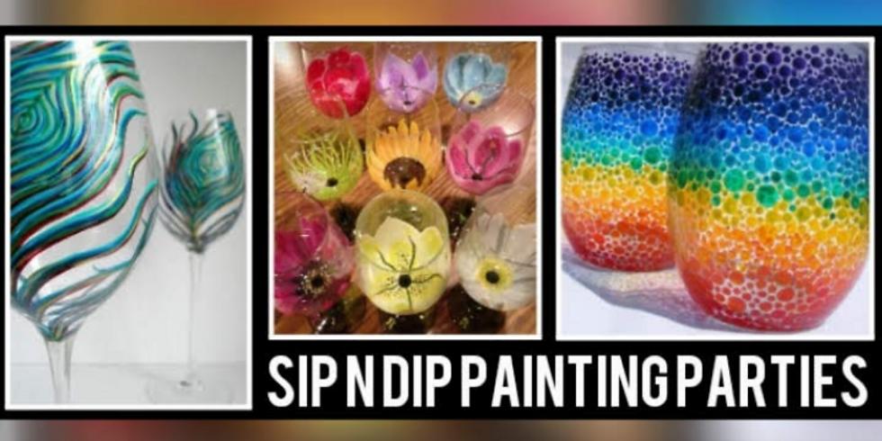 Sip N Dip® Psychic/Wine Glass Paint Night at Buffalo Wild Wings (Morgantown, WV)