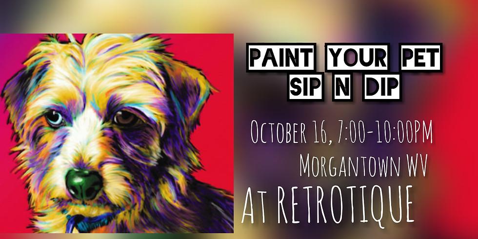 Paint Your Pet BYOB @ RETRO-TIQUE, Morgantown WV