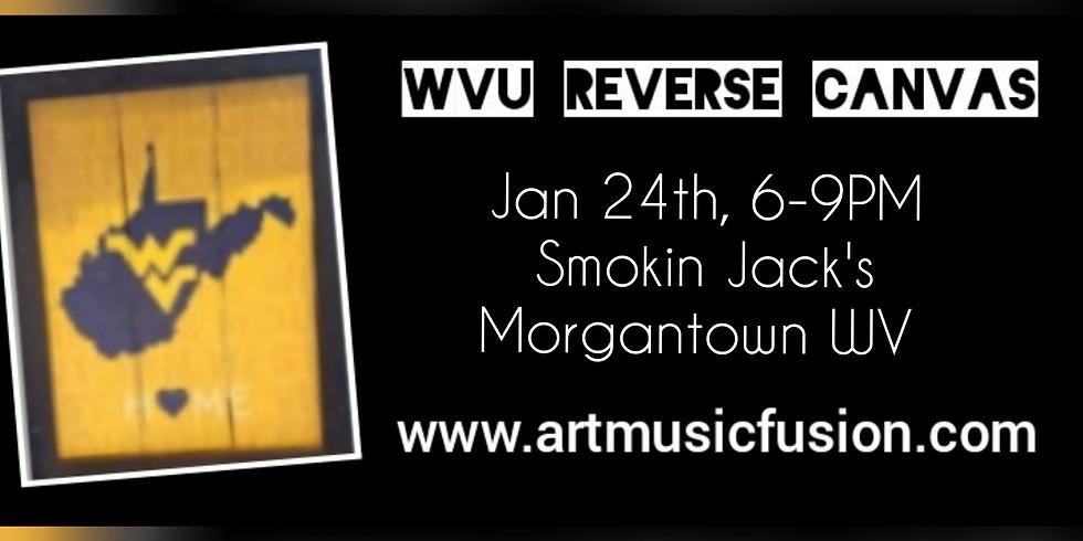 Reverse Canvas Ladies Night with Sip N Dip at Smokin' Jack's