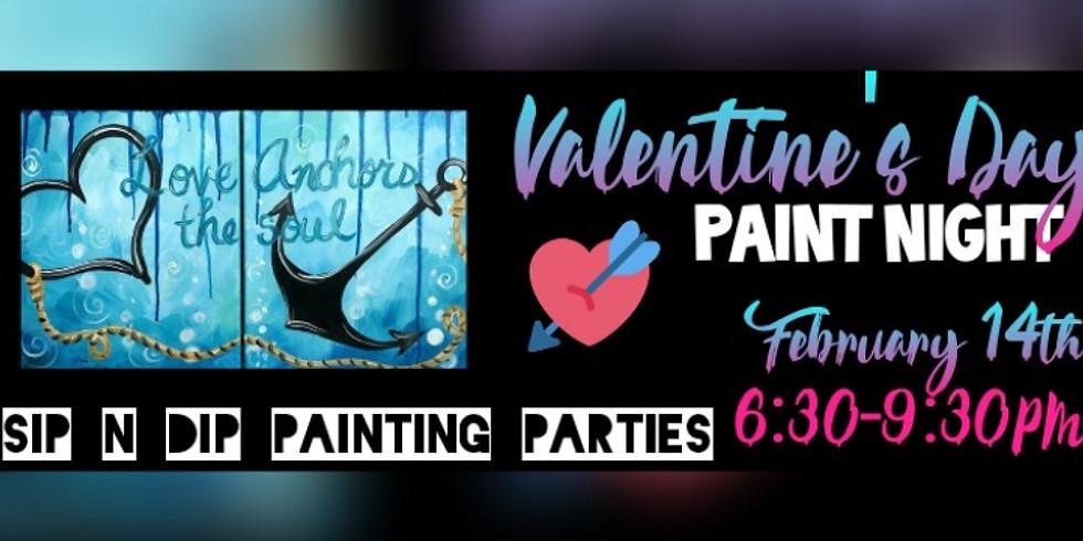 Sip N Dip® Valentine's Paint Night at Buffalo Wild Wings (Morgantown WV)