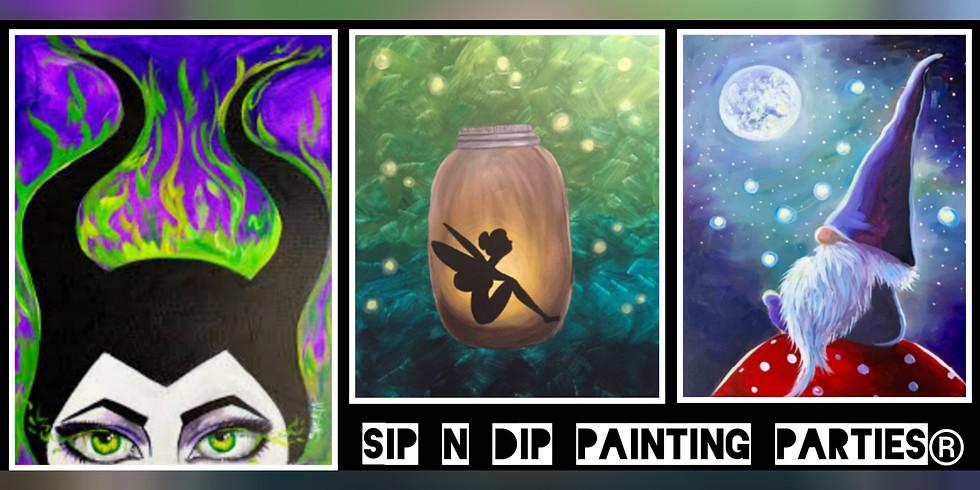 SOLD OUT!!!! Sip N Dip ® Psychic Medium Paint Night at Buffalo Wild Wings (Morgantown, WV)