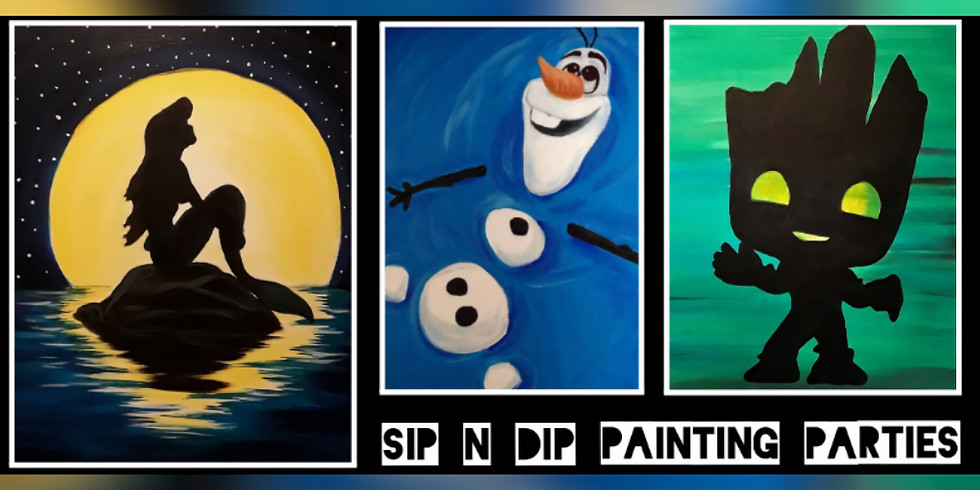 Sip N Dip ® Mommy and Me Paint Night at Mercer Mall (Bluefield, WV)