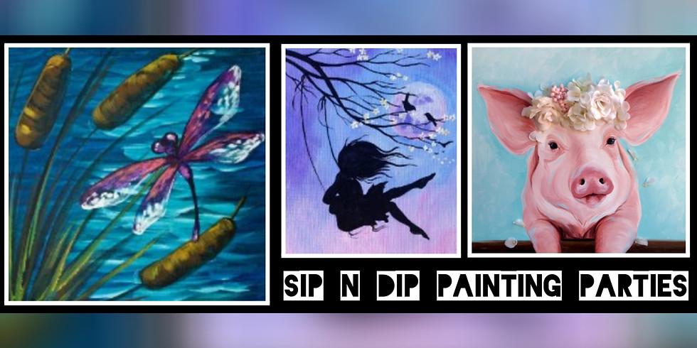 Sip N Dip ® Psychic Medium Paint Night at Buffalo Wild Wings (Bridgeport, WV)