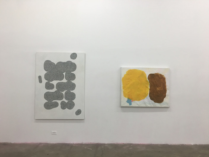 He Speaks (left), Piss and Shit (right) 2017