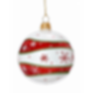 white-christmas-tree-with-red-ornaments-