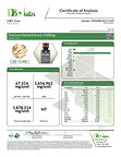 Lab Results for Tincture Hemp Extract 1500mg