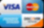 Visa, Mastecard, AMEX, Discover Card accepted